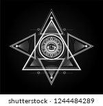 masonic symbol. sacred geometry ... | Shutterstock .eps vector #1244484289