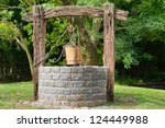 Old Water Well With Pulley And...