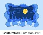 cemetery or graveyard... | Shutterstock .eps vector #1244500540