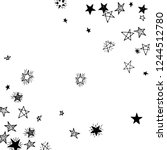 doodle stars. hand drawn... | Shutterstock .eps vector #1244512780