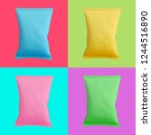 Colorful Set Of Chips Bags...