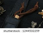 leather cover band | Shutterstock . vector #1244532259