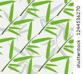 seamless pattern with a sprig... | Shutterstock .eps vector #1244536270