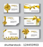 set of beautiful cards with... | Shutterstock .eps vector #124453903