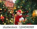 winter lifestyle fashion... | Shutterstock . vector #1244540989