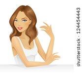 beautiful girl | Shutterstock .eps vector #124454443