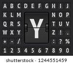 airport terminal scoreboard... | Shutterstock .eps vector #1244551459