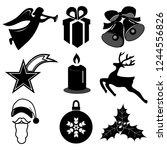 beautiful christmas design... | Shutterstock .eps vector #1244556826
