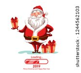 merry christmas and happy new... | Shutterstock .eps vector #1244562103