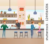 restaurant  pub or cafe... | Shutterstock .eps vector #1244564206
