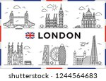 london  united kingdom. big... | Shutterstock .eps vector #1244564683
