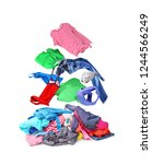 clothes that fly on pile with... | Shutterstock . vector #1244566249