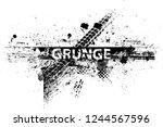 vector print textured tire... | Shutterstock .eps vector #1244567596