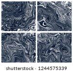 set of four rtistic...   Shutterstock .eps vector #1244575339