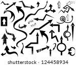arrow set | Shutterstock .eps vector #124458934