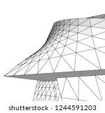 abstract architecture  vector...   Shutterstock .eps vector #1244591203
