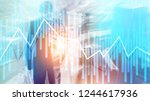 trading and investment concept... | Shutterstock . vector #1244617936