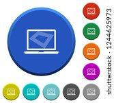 screen saver on laptop round... | Shutterstock .eps vector #1244625973