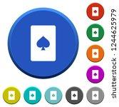 spades card symbol round color... | Shutterstock .eps vector #1244625979