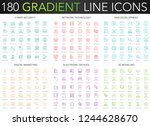 180 trendy gradient vector thin ... | Shutterstock .eps vector #1244628670