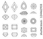 vector set of diamond design... | Shutterstock .eps vector #124462933