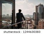 take a pause. full length back... | Shutterstock . vector #1244630383
