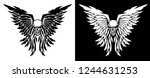 classic skull and wings vector... | Shutterstock .eps vector #1244631253