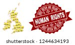 human rights collage of yellow... | Shutterstock .eps vector #1244634193