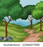 beautiful green nature...   Shutterstock .eps vector #1244657500