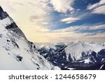 amazing snowy winter view from... | Shutterstock . vector #1244658679