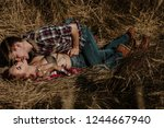 young lovers. people in love.... | Shutterstock . vector #1244667940