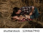 love and sex concept. man and... | Shutterstock . vector #1244667943
