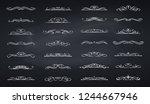 swirls dividers. calligraphic... | Shutterstock .eps vector #1244667946