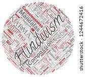 vector conceptual hinduism ... | Shutterstock .eps vector #1244672416
