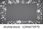 winter frame with white...   Shutterstock .eps vector #1244673970