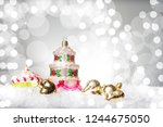 christmaswith the shape of a... | Shutterstock . vector #1244675050