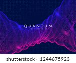 quantum computing background.... | Shutterstock .eps vector #1244675923