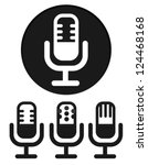 simple microphone icons | Shutterstock .eps vector #124468168