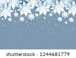 winter holiday realistic paper... | Shutterstock .eps vector #1244681779