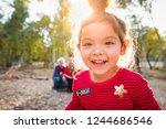 cute mixed race baby girl... | Shutterstock . vector #1244686546