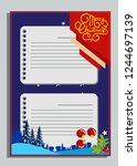 christmas greeting card with... | Shutterstock .eps vector #1244697139