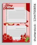 christmas greeting card with... | Shutterstock .eps vector #1244700856