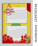 christmas greeting card with... | Shutterstock .eps vector #1244705146