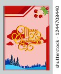 christmas greeting card with... | Shutterstock .eps vector #1244708440