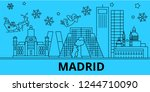 spain  madrid winter holidays... | Shutterstock .eps vector #1244710090