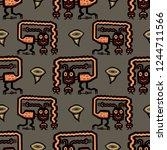 seamless geometrical pattern... | Shutterstock .eps vector #1244711566
