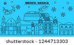 mexico  oaxaca winter holidays... | Shutterstock .eps vector #1244713303