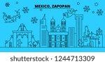 mexico  zapopan winter holidays ... | Shutterstock .eps vector #1244713309