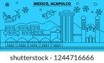 mexico  acapulco winter... | Shutterstock .eps vector #1244716666