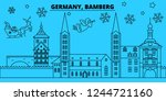 germany  bamberg winter... | Shutterstock .eps vector #1244721160